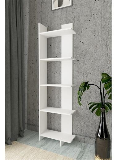 Mobitopya Dekoratif Kitaplık / Beyaz Beyaz
